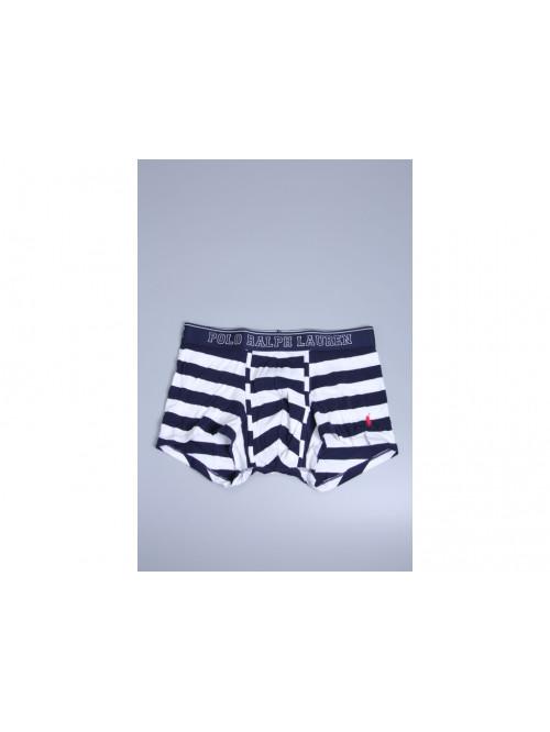 Pánske boxerky Ralph Lauren White / Cruise Navy Rugby Stripe bielo-modré