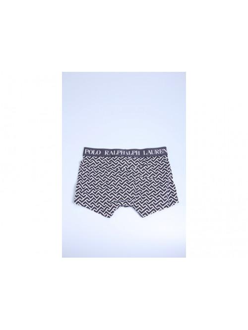 Pánske boxerky Ralph Lauren Polo Black Deco Link Geometric Print čierne