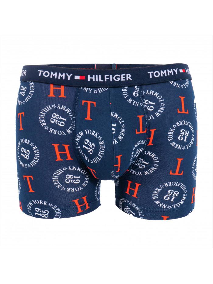 Pánske Boxerky Tommy Hilfiger All-Over Print Organic Cotton Trunks modré