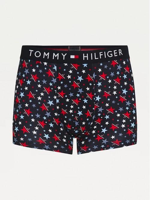 Pánske Boxerky Tommy Original CTN Trunk Print čierne / vzorované