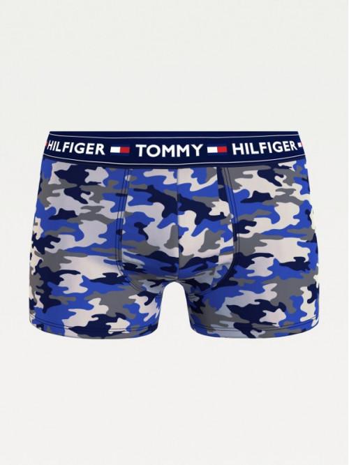 Pánske boxerky Tommy Hilfiger Camouflage Print modré, maskáčové