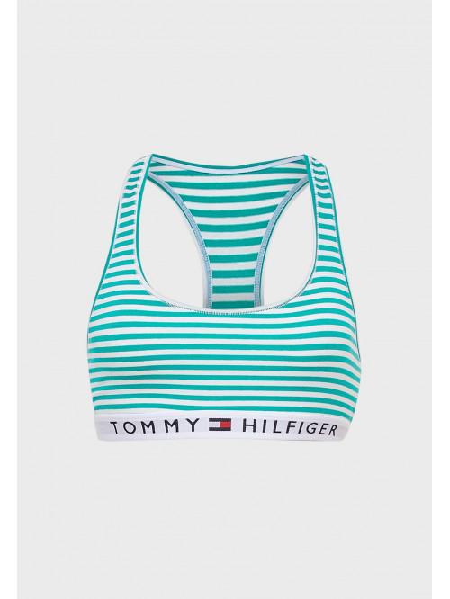 Dámska podprsenka Tommy Hilfiger Logo Band Racerback Striped pruhovaná