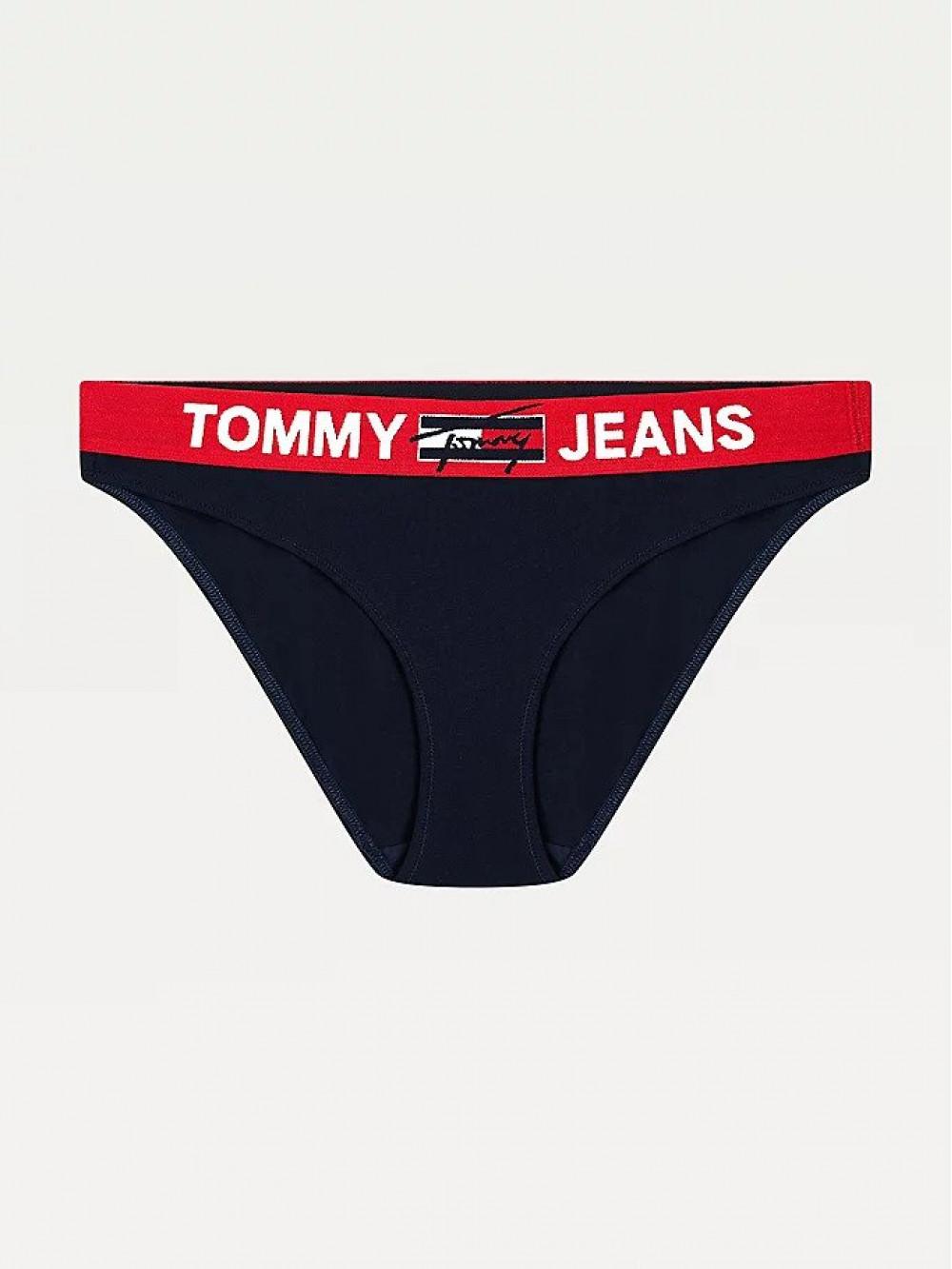 Dámske nohavičky Tommy Hilfiger Contrast Waistband Bikini modré