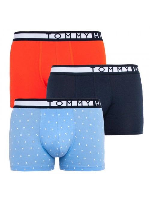 Pánske boxerky Tommy Hilfiger Organic Cotton svetlomodré, modré, oranžové 3-pack