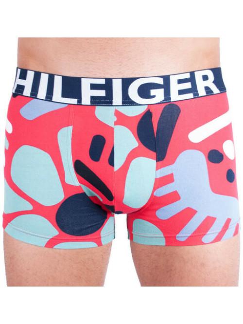 Pánske Boxerky Tommy Hilfiger Trunk Abstract Print červené, vzorované
