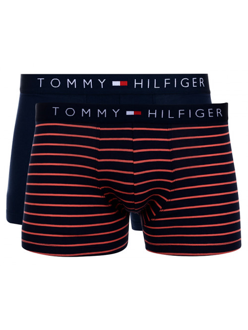 Pánske boxerky Tommy Hilfiger Trunk Mini Stripe 2-pack navy, pásikavé