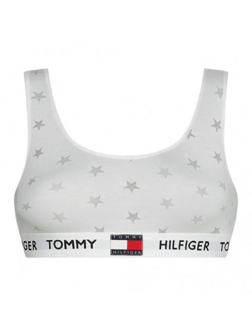 Dámska podprsenka Tommy Hilfiger Star Burnout Bralette biela