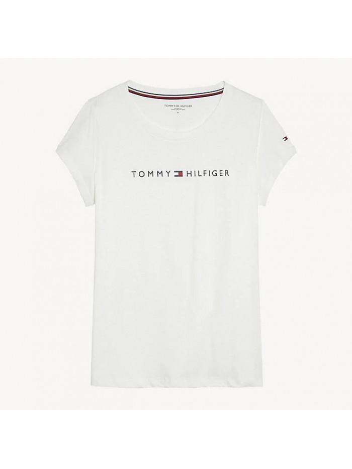 Dámske tričko Tommy Hilfiger RN TEE SS LOGO biele