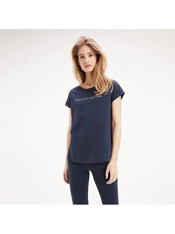 Dámske tričko Tommy Hilfiger RN TEE SS LOGO modré