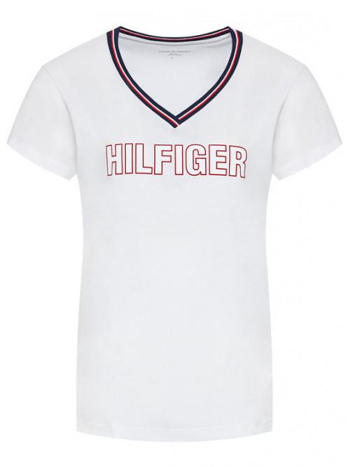 Dámske tričko Tommy Hilfiger CN SS Tee Regular Fit biele