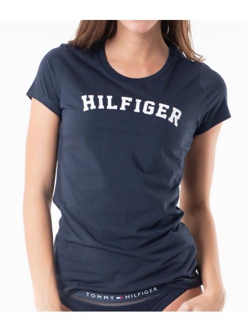 Dámske tričko Tommy Hilfiger SS TEE PRINT navy modré