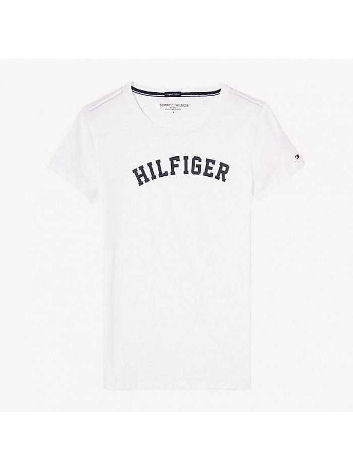 Dámske tričko Tommy Hilfiger SS TEE PRINT biele