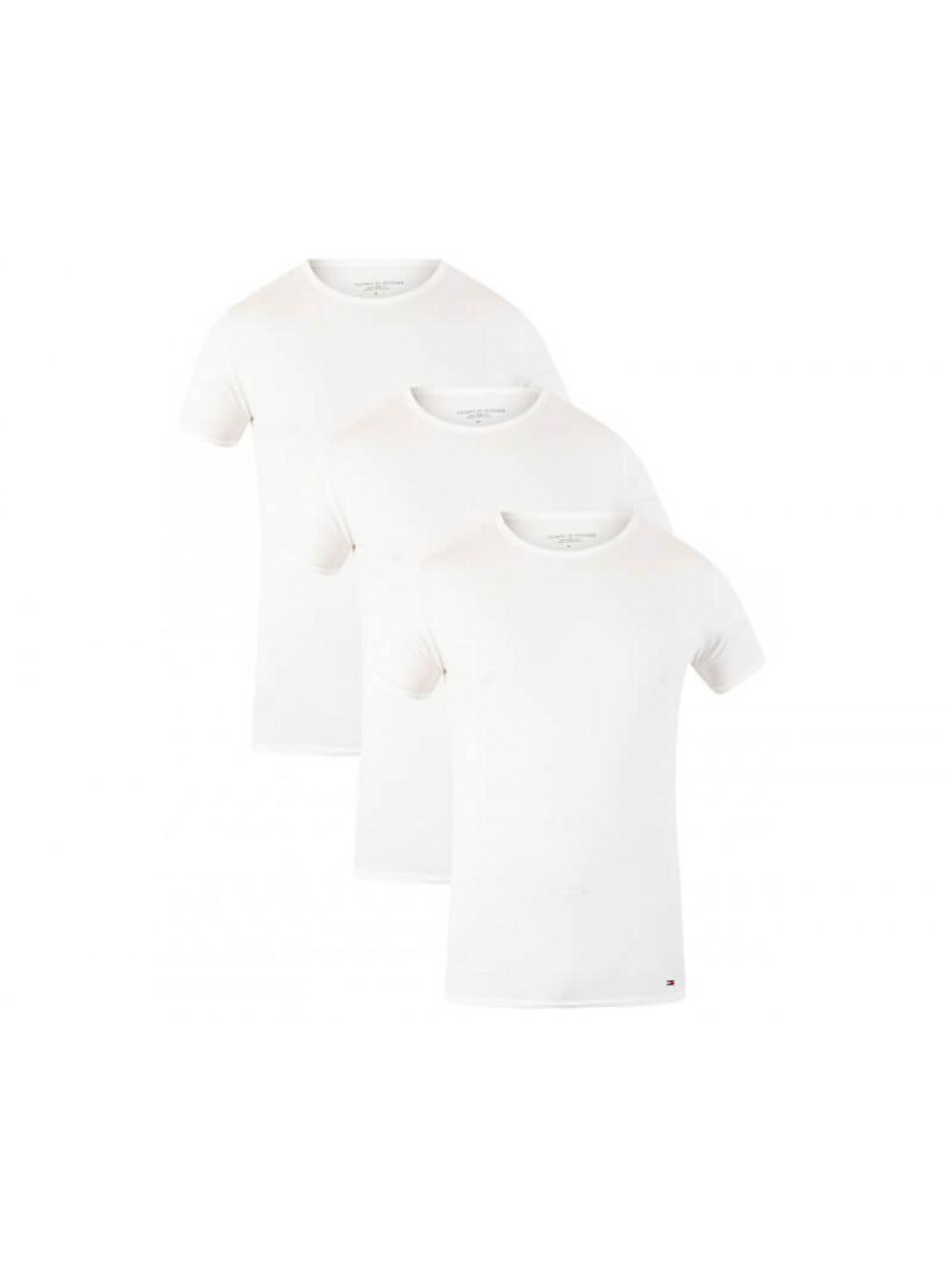 Pánske tričko Tommy Hilfiger C-Neck Tee SS biele 3-pack