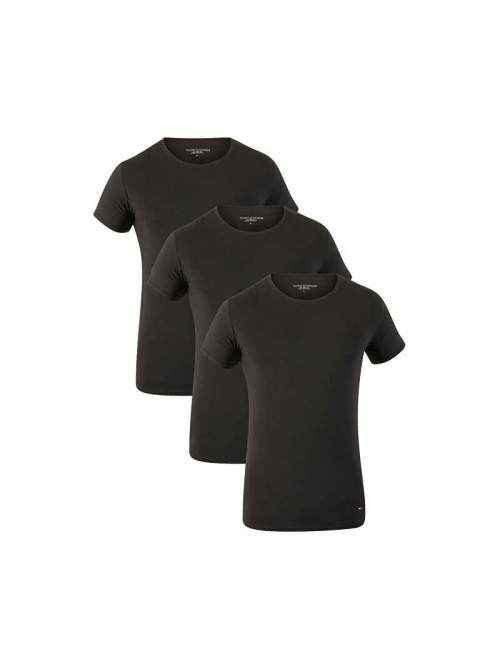 Pánske tričká Tommy Hilfiger C-Neck Tee SS čierne 3-pack