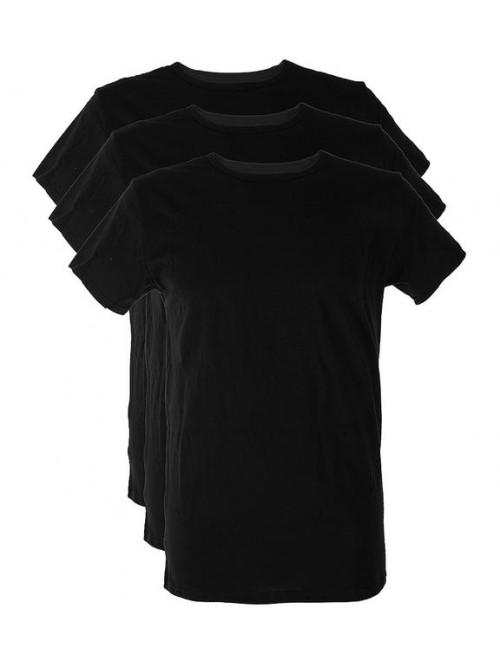 Pánske tričko Tommy Hilfiger C-Neck Tee SS čierne 3-pack