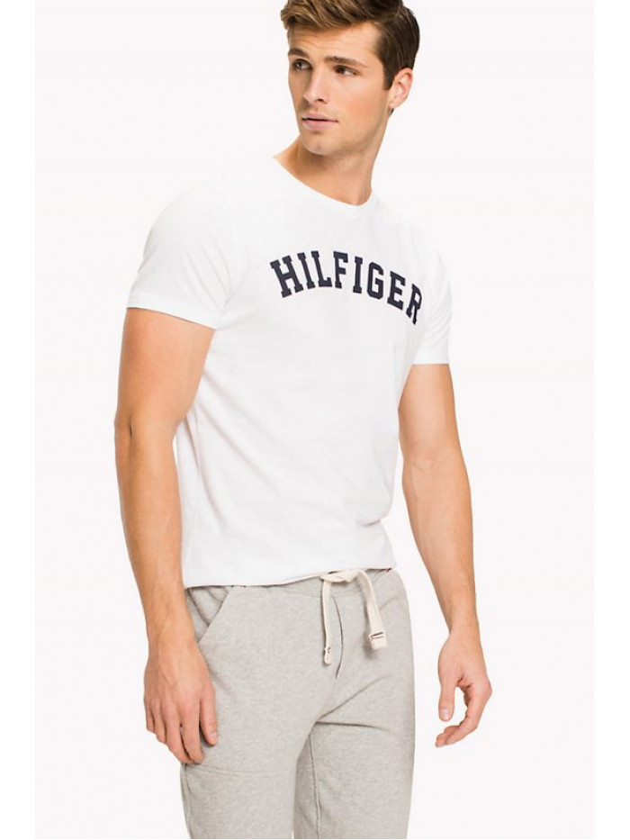 Pánske tričko Tommy Hilfiger SS TEE LOGO biele