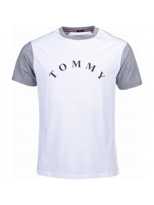 Pánske tričko Tommy Hilfiger CN SS Tee Logo biele