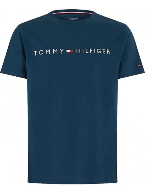 Pánske tričko Tommy Hilfiger Crew Neck Tee Logo modré