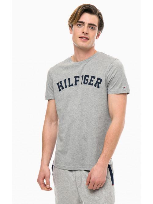 Pánske tričko Tommy Hilfiger SS TEE LOGO sivé