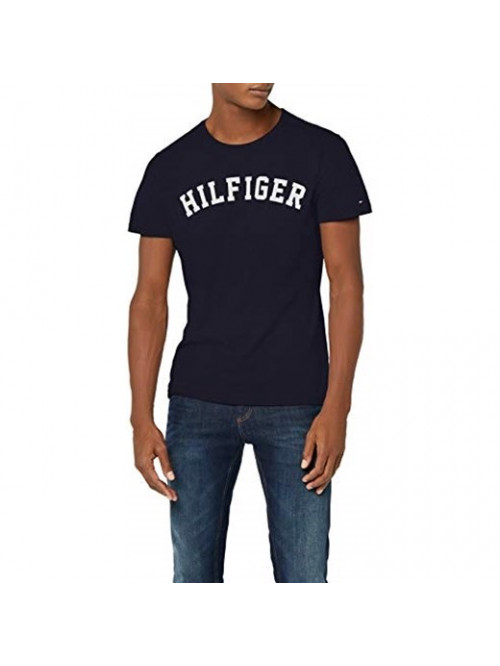 Pánske tričko Tommy Hilfiger SS TEE LOGO navy modré