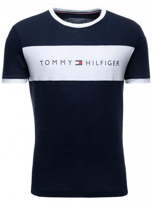 Pánske tričko Tommy Hilfiger Tee Logo Flag modré
