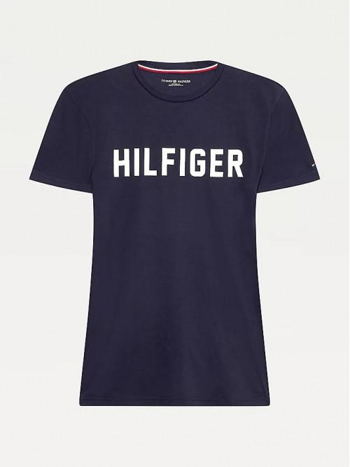 Pánske tričko Tommy Hilfiger SS Crew Neck Tee Lounge Logo modré