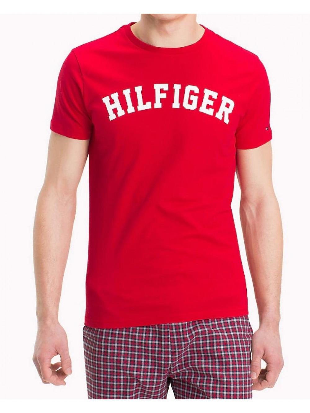 Pánske tričko Tommy Hilfiger SS TEE LOGO červené