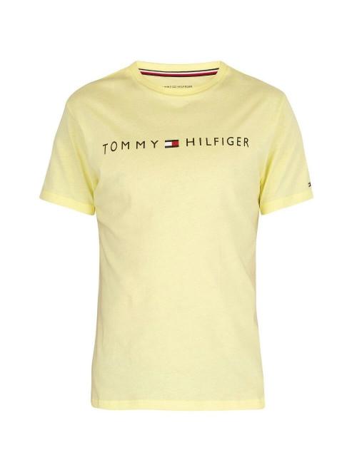 Pánske tričko Tommy Hilfiger Crew Neck Tee Logo žlté