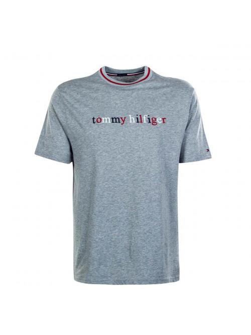 Pánske tričko Tommy Hilfiger Organic Cotton Logo T-shirt sivé