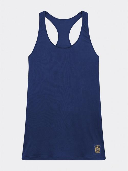 Dámske tielko Tommy Hilfiger Cool Logo Racerback Vest navy modré