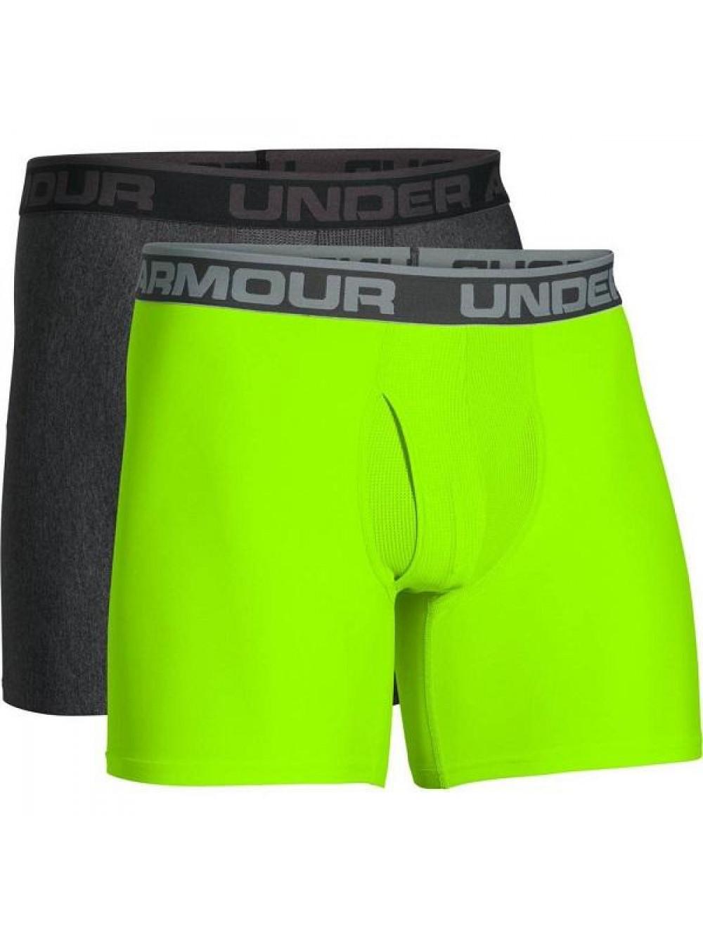Pánske boxerky Under Armour BOXERJOCK 2-pack, zelené a sivé