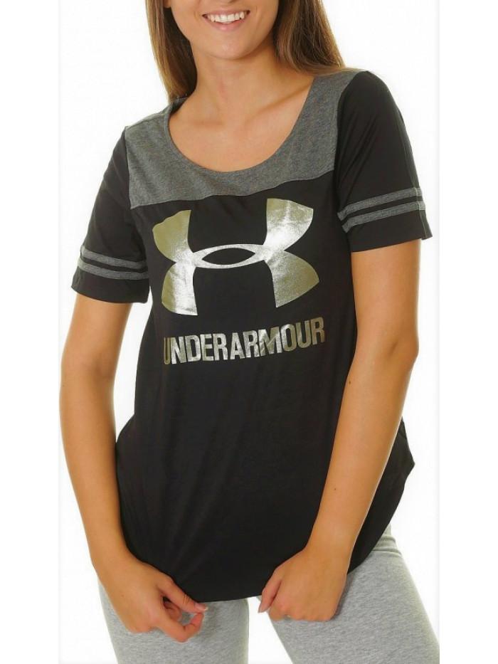 Dámske tričko Under Armour Sportstyle Baseball čierne