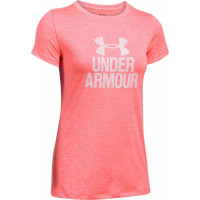 Dámske tričko Under Armour Tech Crew Graphic ružov...