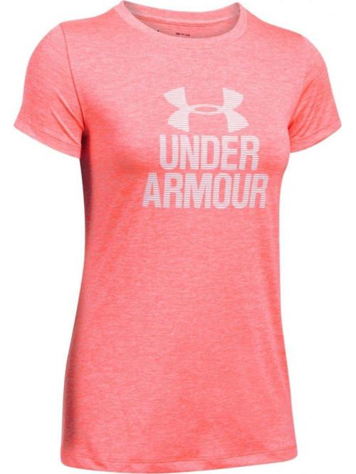 Dámske tričko Under Armour Tech Crew Graphic ružové