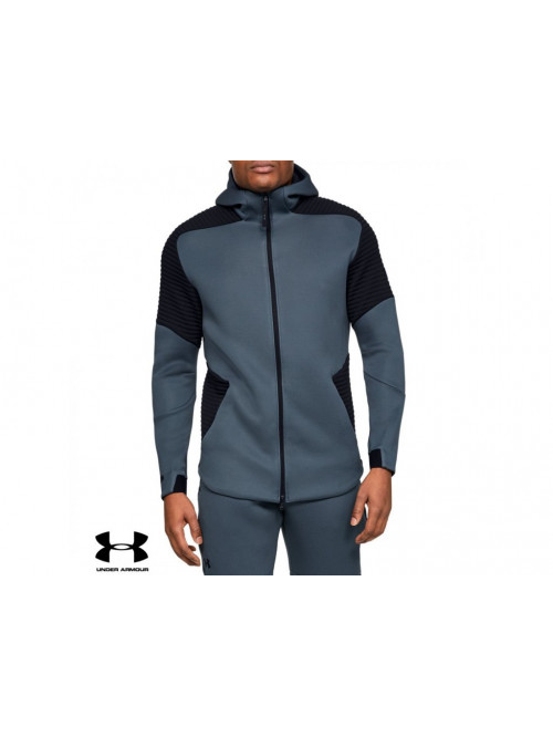 Pánska mikina Under Armour Unstoppable Move FZ Hoodie Wire sivá