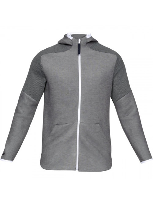 Pánska mikina Under Armour Unstoppable Move Light FZ Hoodie sivá