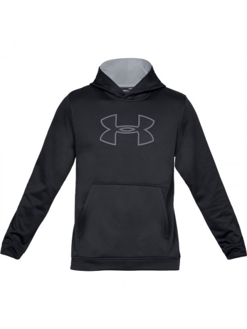 Pánska mikina Under Armour Performance Fleece Graphic Hoody čierna