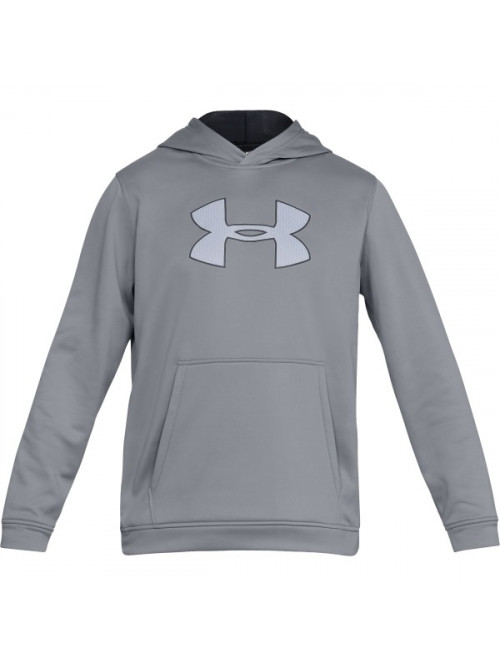 Pánska mikina Under Armour Performance Fleece Graphic Hoody sivá