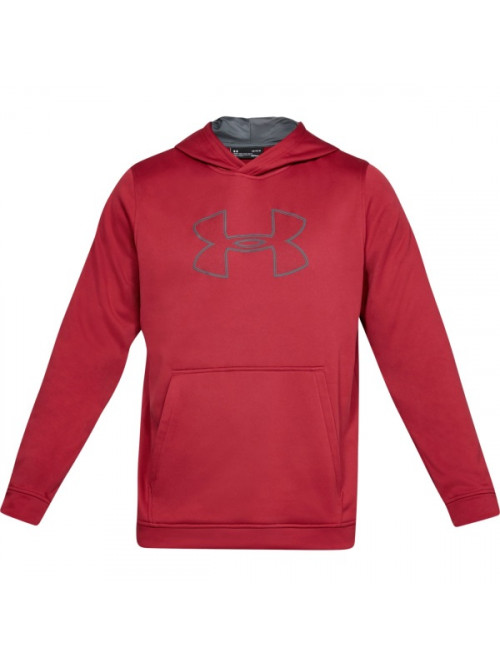 Pánska mikina Under Armour Performance Fleece Graphic Hoody červená