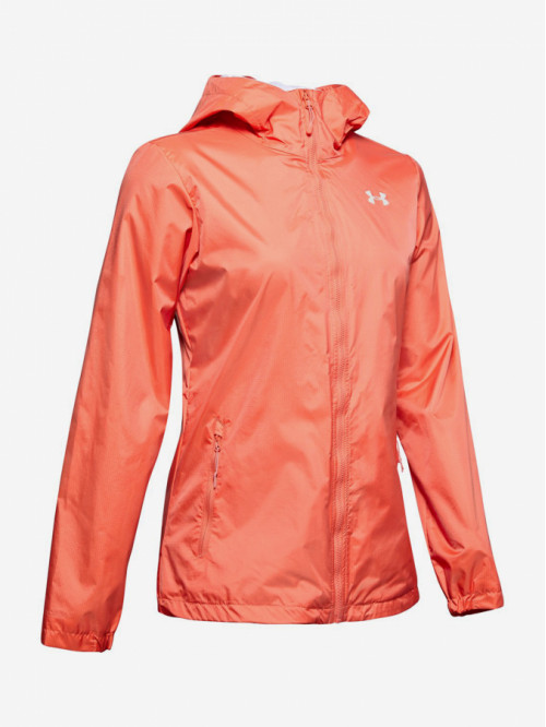 Dámska bunda Under Armour Forefront Rain Jacket koralová