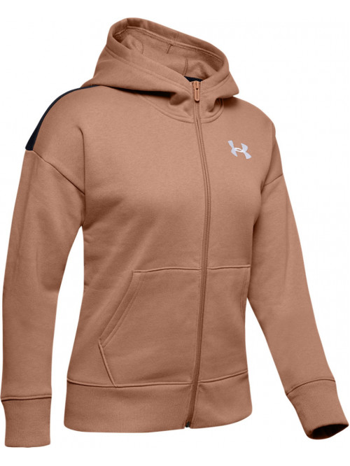 Dámska mikina Under Armour Originators Fleece Hooded hnedá