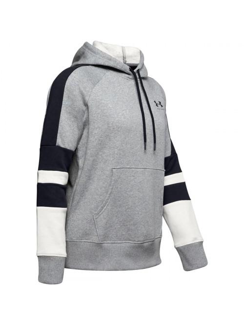 Dámska mikina Under Armour Rival Fleece Logo Hoodie sivá