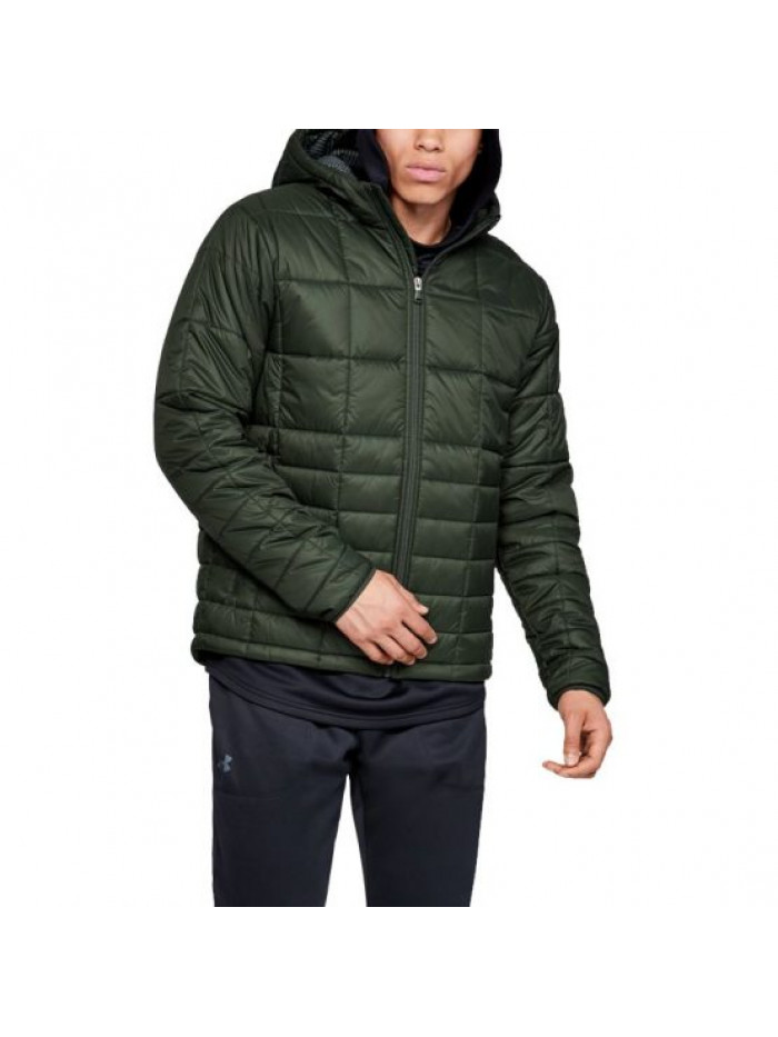 Pánska bunda Under Armour Insulated Hooded zelená