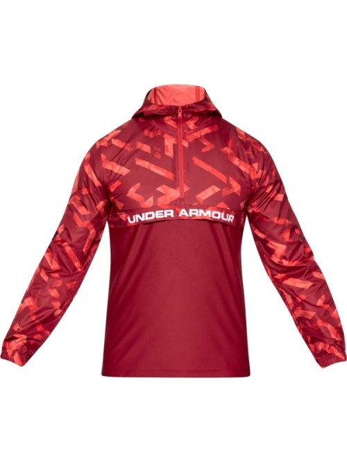Pánska bunda Under Armour Sportstyle Woven Layer červená