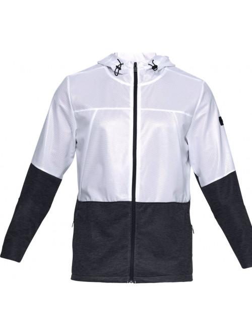 Pánska bunda Under Armour Ustoppable Swacket čierno-biela
