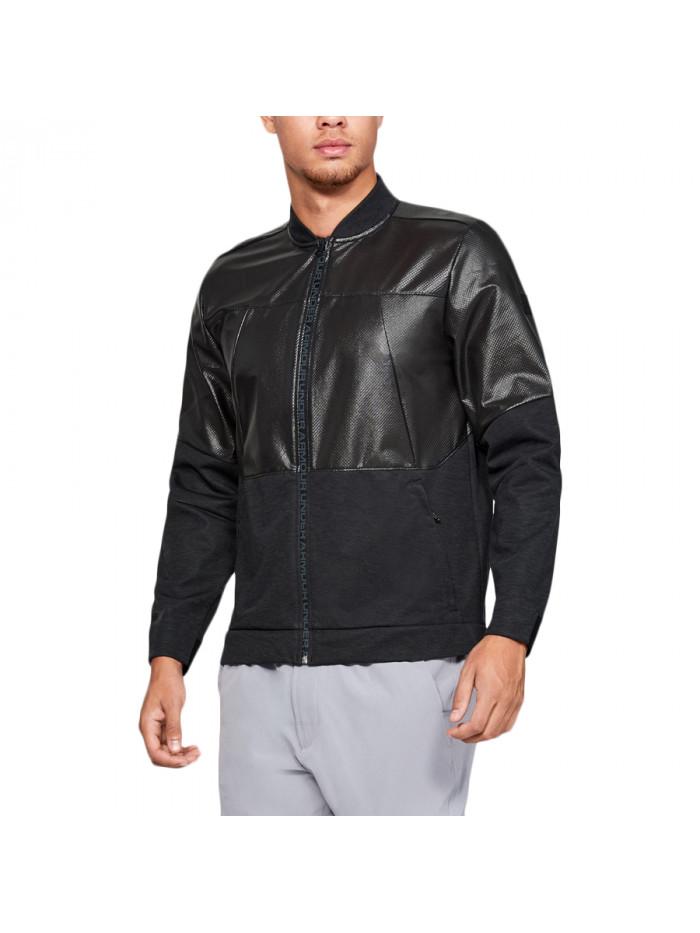 Pánska bunda Under Armour Unstoppable Swacket Bomber Jacket čierna