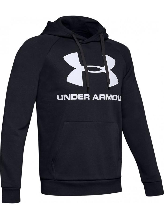 Pánska mikina Under Armour Rival Fleece Big Logo čierna