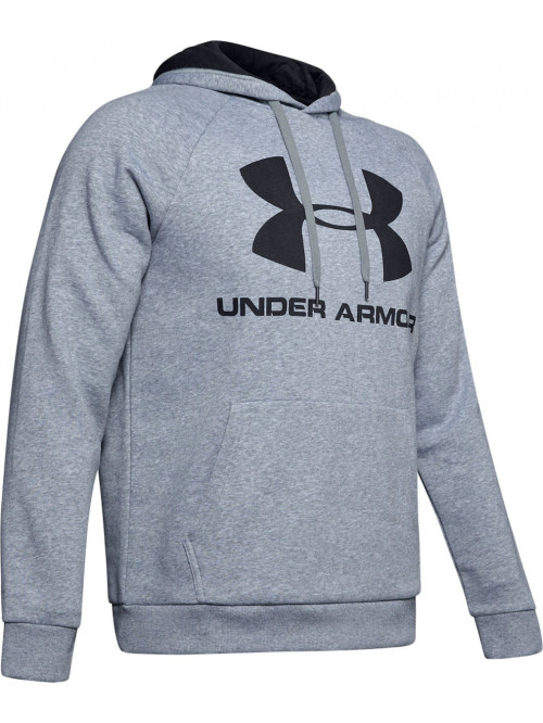 Pánska mikina Under Armour Rival Fleece Big Logo sivá