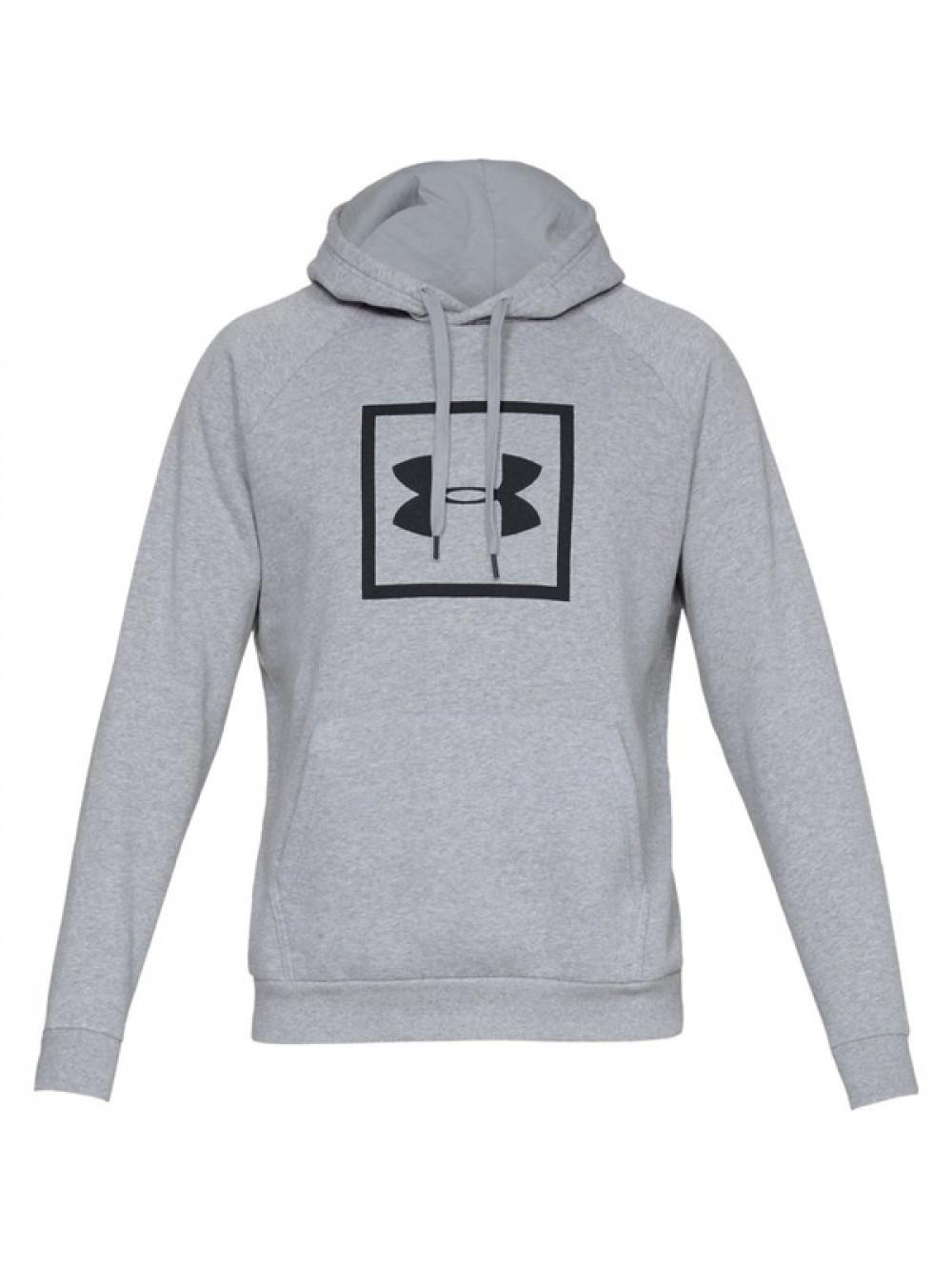 Pánska mikina Under Armour Rival Fleece Logo Hoodie sivá