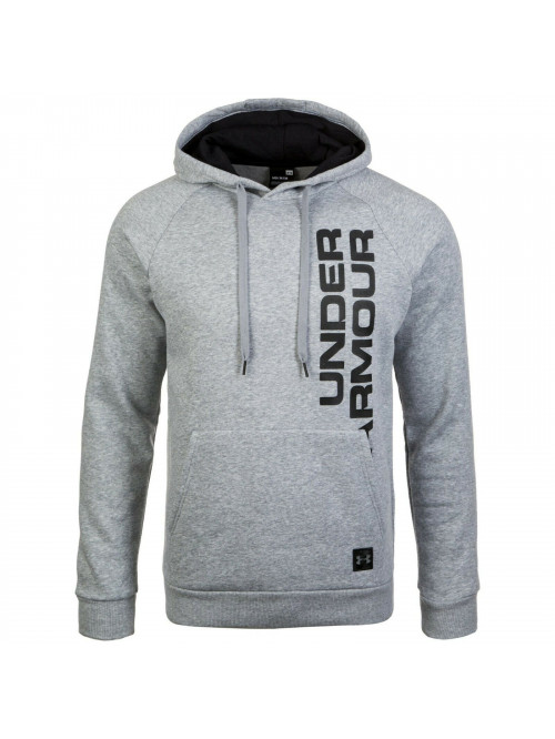 Pánska mikina Under Armour Rival Fleece Script Hoody sivá